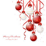 Red and white Christmas balls Stock Images