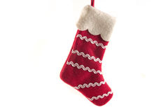 Red and white christmas boot Royalty Free Stock Photography