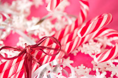 Red and white Christmas candy canes Royalty Free Stock Photos