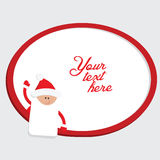 Red and white christmas frame with Santa Claus Royalty Free Stock Image