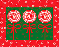 Red and white christmas lollipops Stock Image
