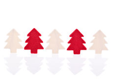 Red and white christmas tree Royalty Free Stock Photo