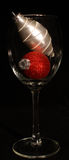 Red and white christmas wine Stock Photography