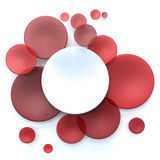 Red and white circle background. Abstract background with white and red transparent disks Vector Illustration