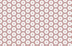 Red and White Circle Hexagon Abstract Pattern Design stock illustration