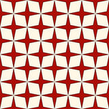 Red and white colors seamless pattern with stylized repeating stars. Simple geometric ornament. Modern stylish texture. Stock Photography