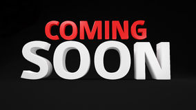 Red-white Coming Soon Royalty Free Stock Photos