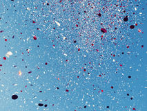 Red and White confetti Stock Photo