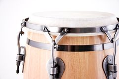 Red and White Conga Drum On White Royalty Free Stock Images