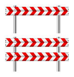 Red and white construction barricade Royalty Free Stock Photography