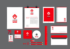 Red and white corporate identity template  for your business Royalty Free Stock Image