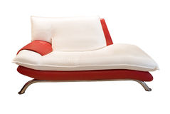 Red and white couch. Modern red and white couch isolated on the white background Royalty Free Stock Photos