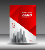 Red and White Cover design Annual report vector illustration Royalty Free Stock Photo