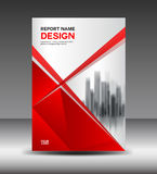 Red and white Cover design Annual report vector illustration Stock Images