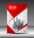 Red and white Cover design Annual report vector illustration Royalty Free Stock Photography