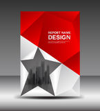 Red and White Cover design Annual report vector illustration Stock Photos