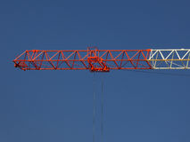 Red and white crane Stock Photography