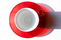 A red and white cup. Seen by top Stock Images
