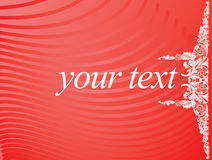 Red White Curves Text Banner Royalty Free Stock Photo