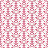 Red and white damask stylized seamless pattern, vector Royalty Free Stock Image