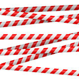 Red and white danger tape Stock Photos