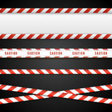 Red and white danger tapes. Caution lines isolated. Vector illustration vector illustration