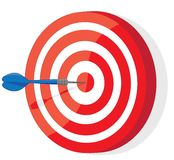 Red and White darts target Royalty Free Stock Image