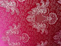 Red and white design for patterns stock photo