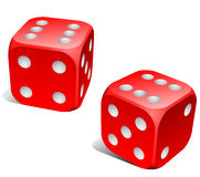 Red and white dice Stock Images