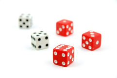 Red and white dice Royalty Free Stock Images