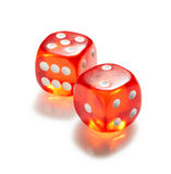 Red and white dices Royalty Free Stock Photo