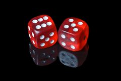Red and white dices Royalty Free Stock Image