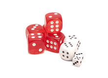 Red and white dices Royalty Free Stock Images