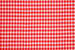 Red and white dishtowel backgrounds Royalty Free Stock Photo