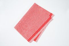 Red and white dishtowel Royalty Free Stock Image