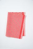 Red and white dishtowel Stock Image
