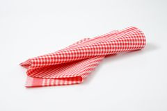 Red and white dishtowel Royalty Free Stock Images