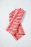 Red and white dishtowel Stock Images