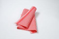 Red and white dishtowel Stock Photography