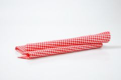 Red and white dishtowel Stock Photos