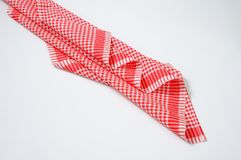 Red and white dishtowel Royalty Free Stock Photos