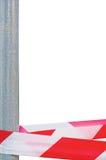 Red White Do Not Cross Headband Ribbon Tape Stock Photos