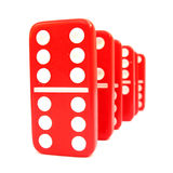 Red and white dominoes Stock Image