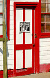 Red and white door Royalty Free Stock Photos