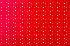 Red with white dots Stock Image