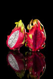 Red and white dragon fruits. Royalty Free Stock Photography
