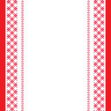 Red-white embroidered background Royalty Free Stock Photos