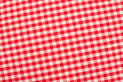 Red and white fabric Stock Images
