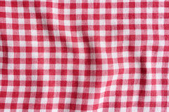 Red and white fabric texture. Royalty Free Stock Image