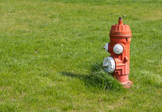 Red and White Fire Hydrant Stock Photo